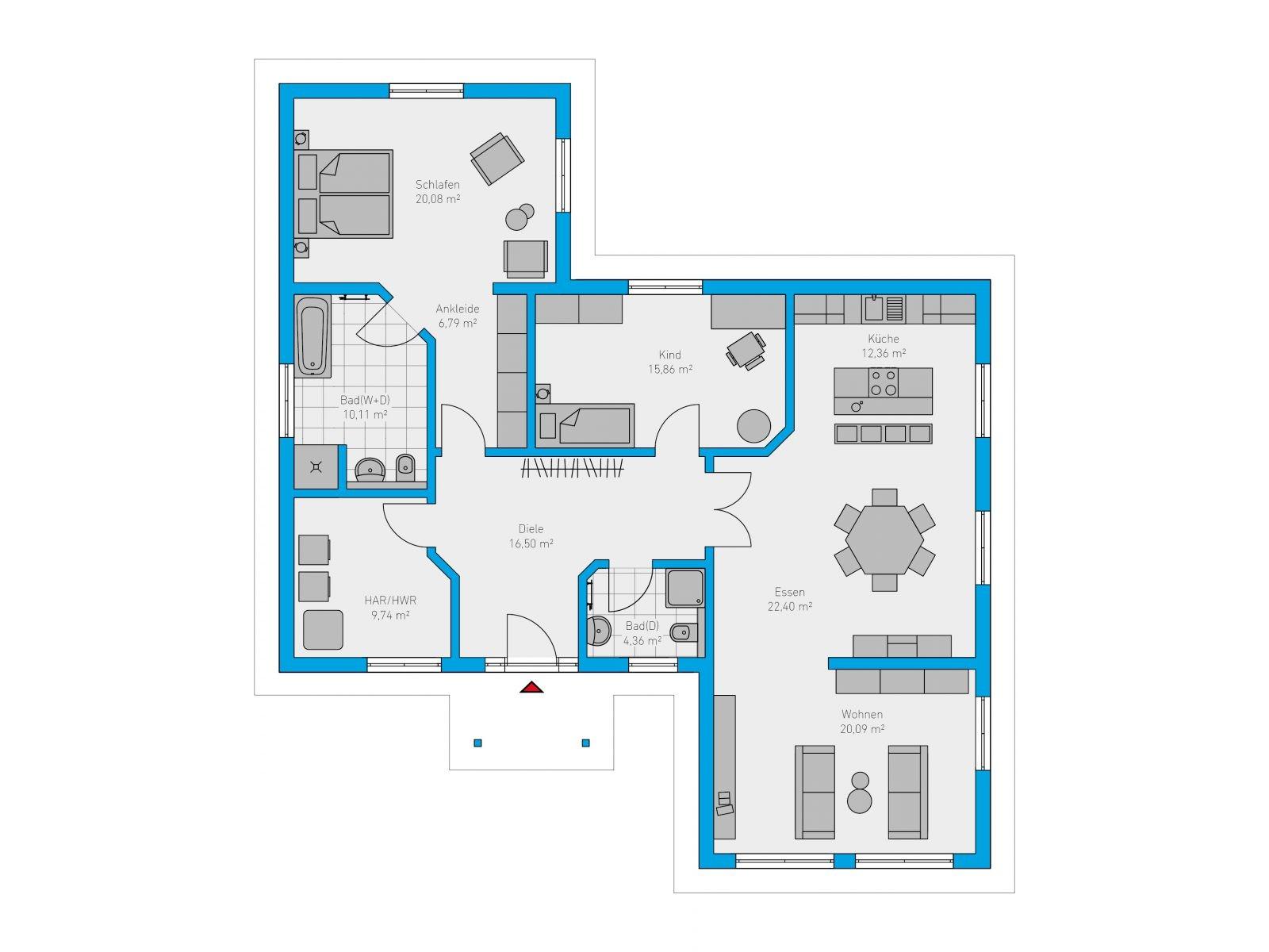 plana 138 spektral haus. Black Bedroom Furniture Sets. Home Design Ideas