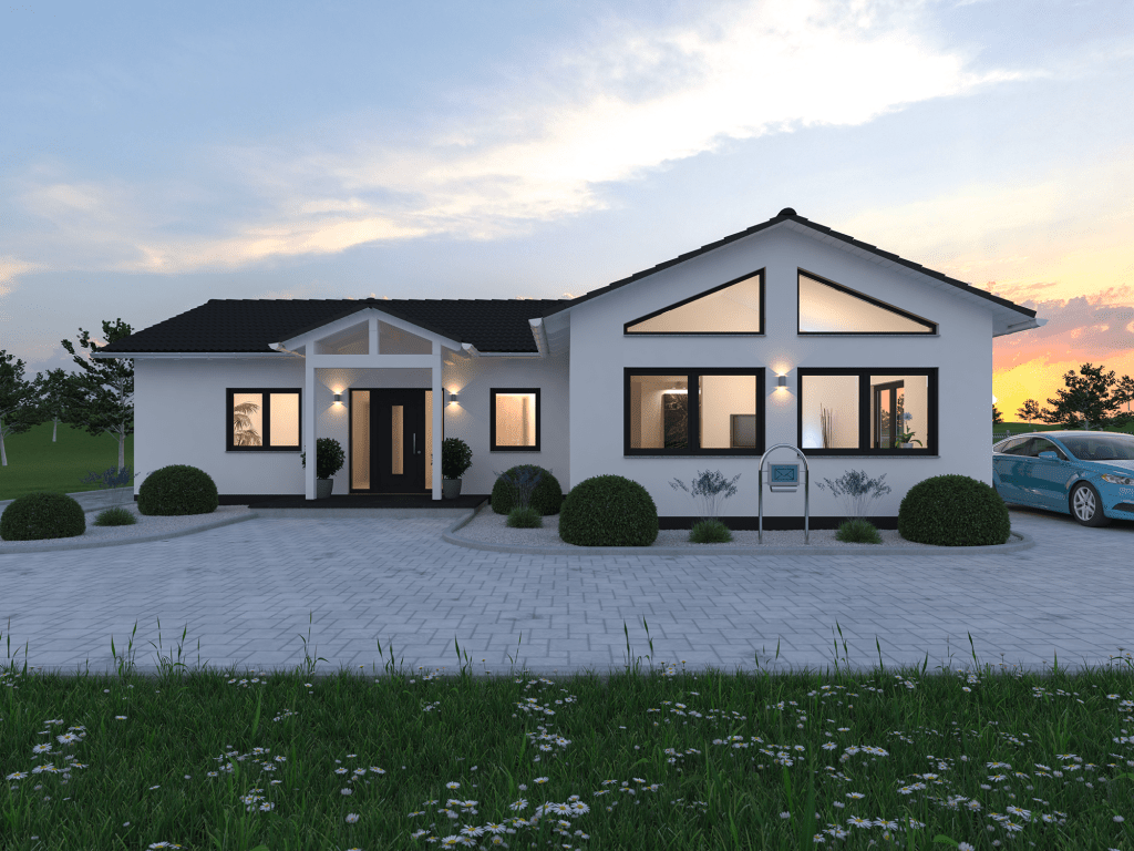 Bungalow Massivhaus Plana 138