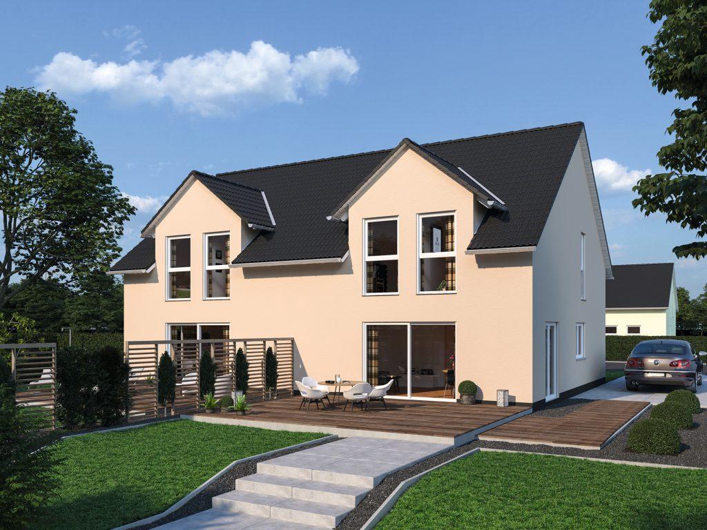 Fertighaus Doppelhaus Duplex 111
