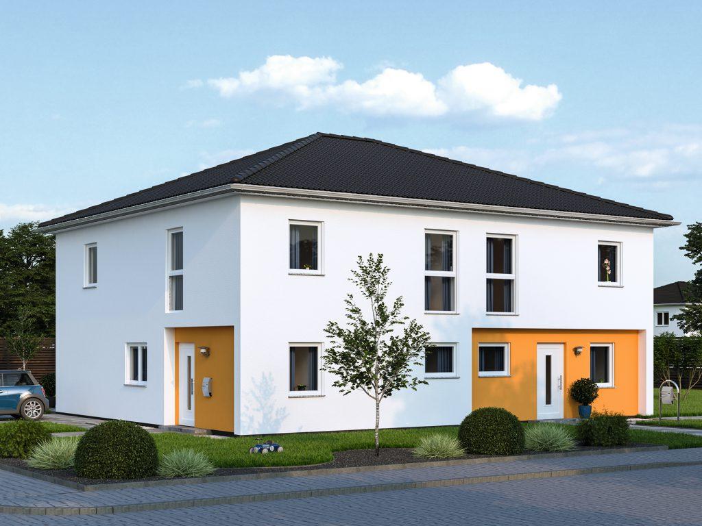 Fertighaus Doppelhaus Duplex 124
