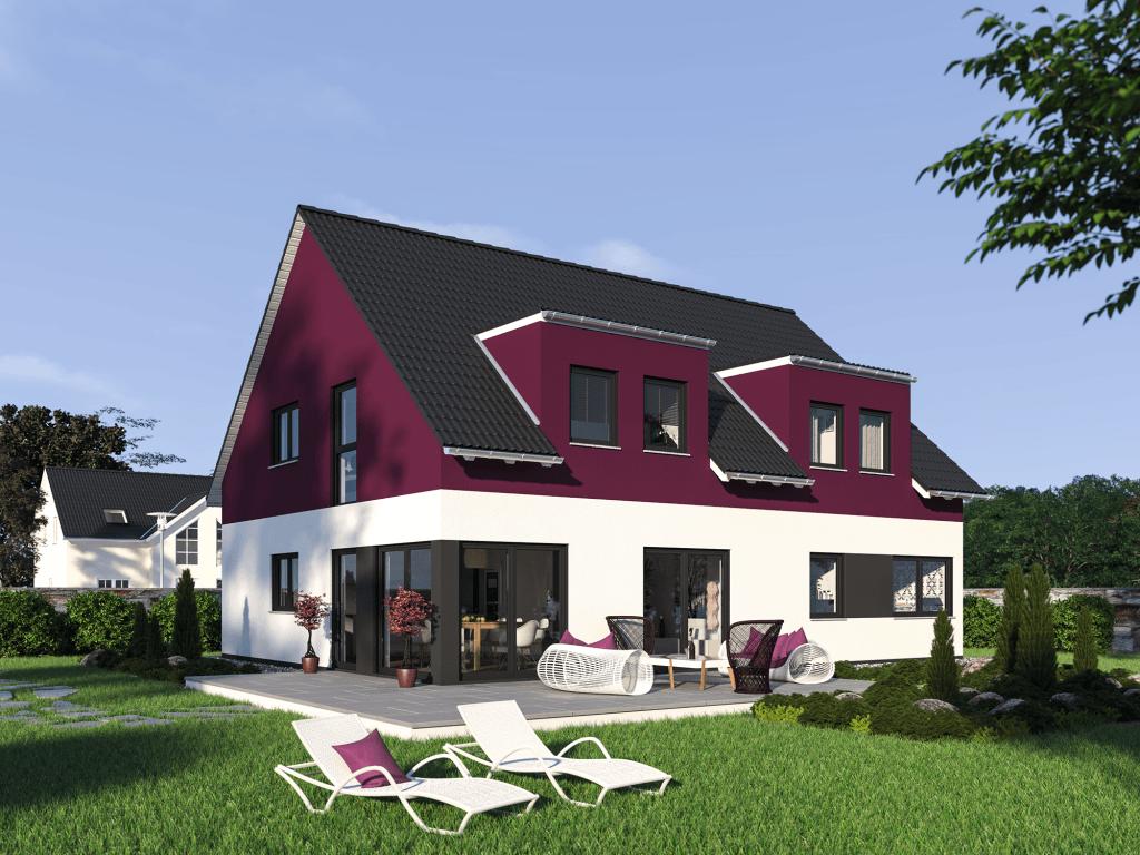 Fertighaus Doppelhaus Duplex 205