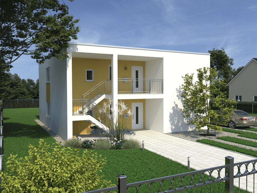 Fertighaus Doppelhaus Duplex 208